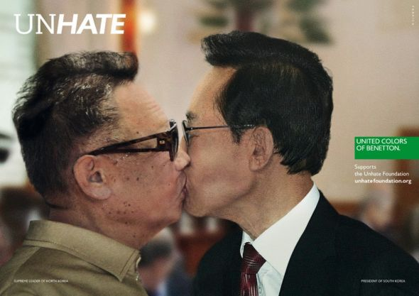 Benetton_Unhate_North_Korea_South_Korea