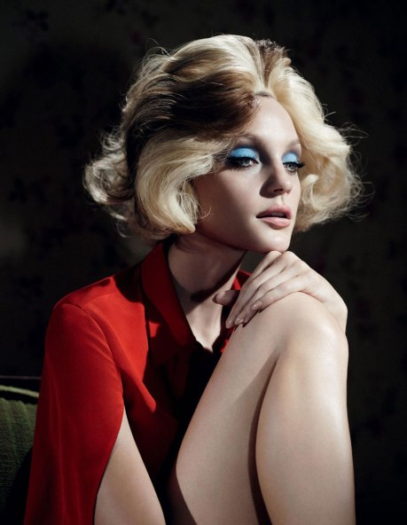 Jessica Stam by Willy Vanderperre for W Magazine