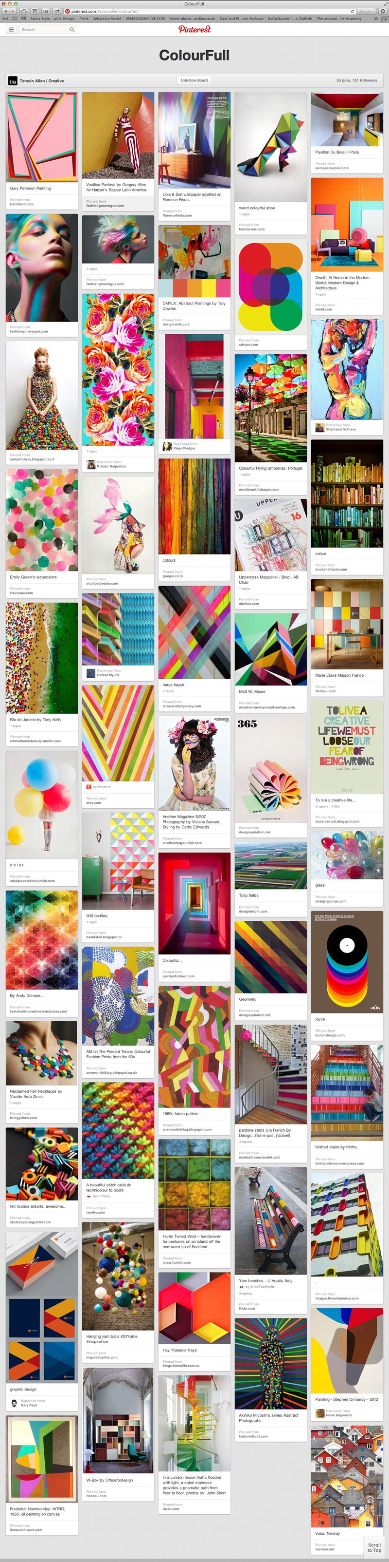 Pinterest ColourFull board