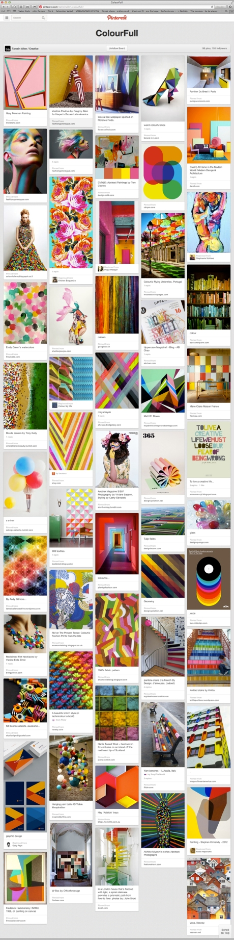 Pinterest ColourFull board